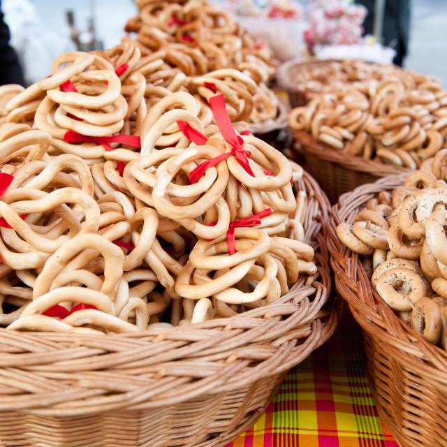 """Obwarzanki Polish traditional product"" stock image"