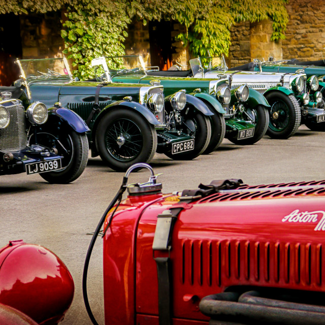 """Vintage Aston Martins."" stock image"