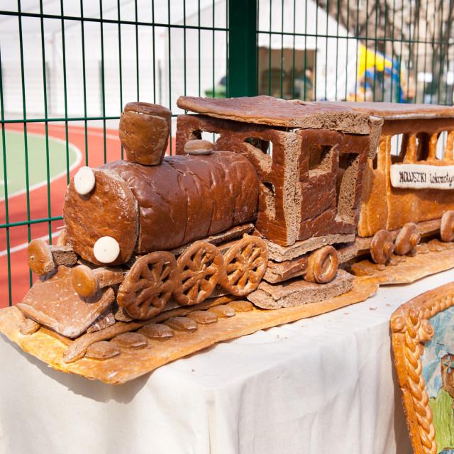"""Locomotive imitation of bread"" stock image"