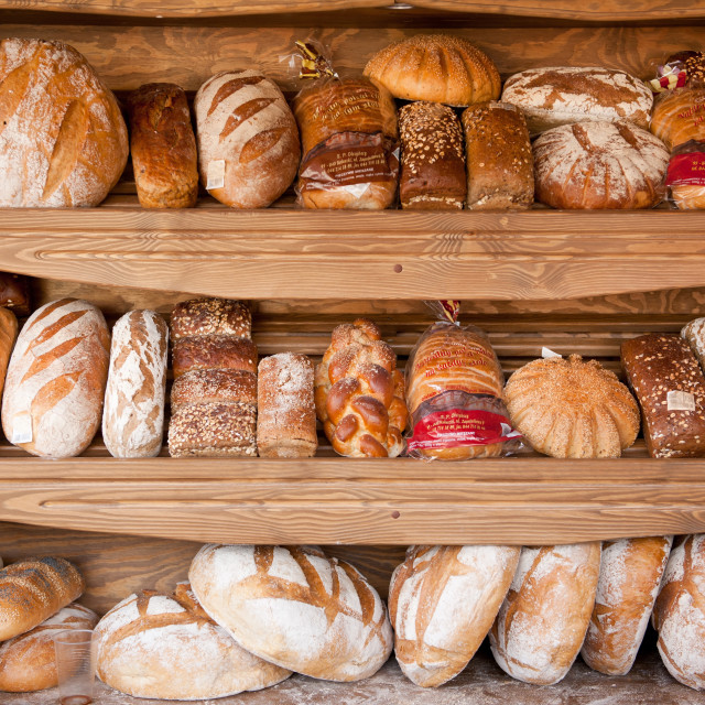 """Presentation of bread variety"" stock image"