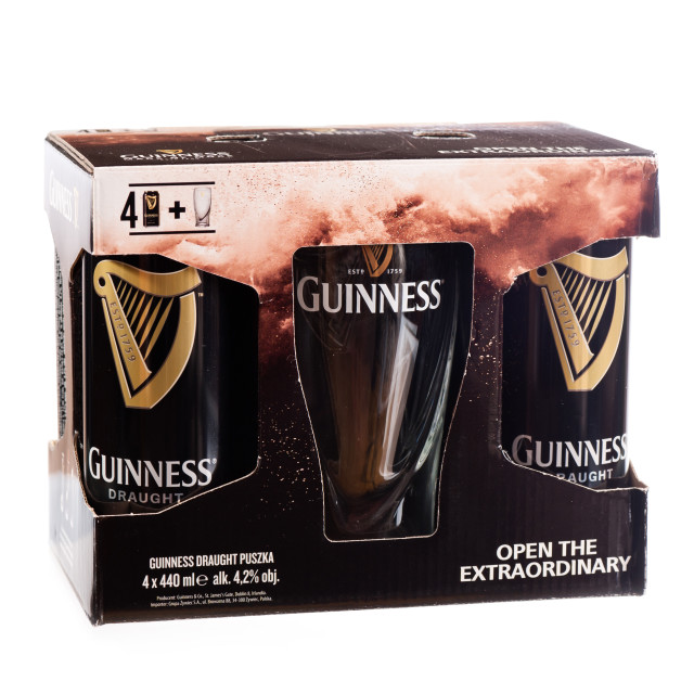 """Guinness draught beer four pack"" stock image"