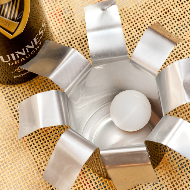 """""""Widget in Guinness can"""" stock image"""