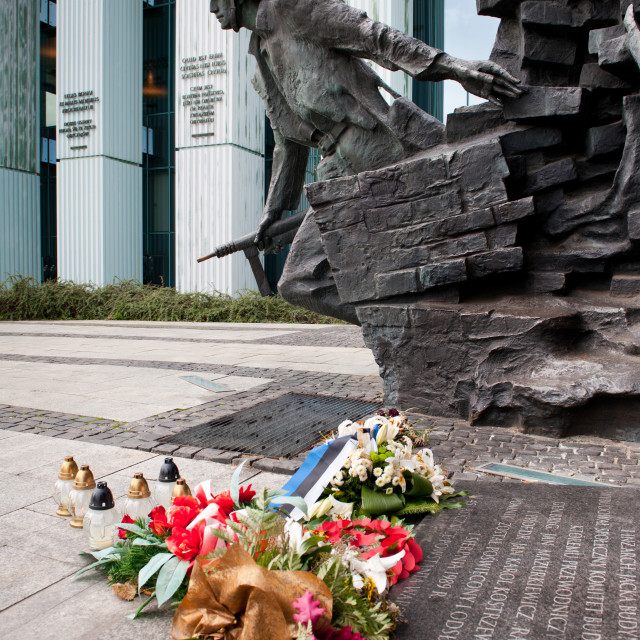 """Warsaw uprising memorial monument"" stock image"