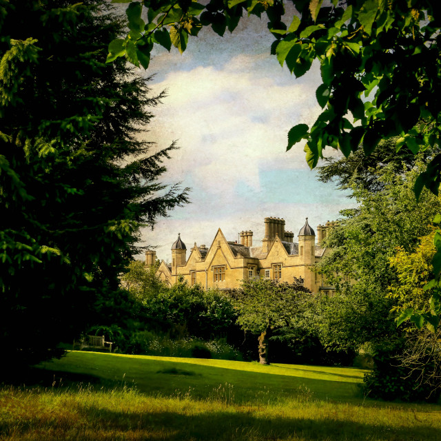 """Dumbleton Manor"" stock image"