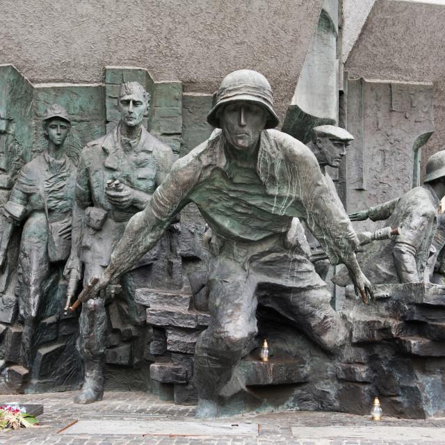 """Running insurgents monument"" stock image"