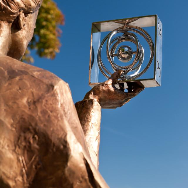 """""""Maria Sklodowska Curie statue"""" stock image"""