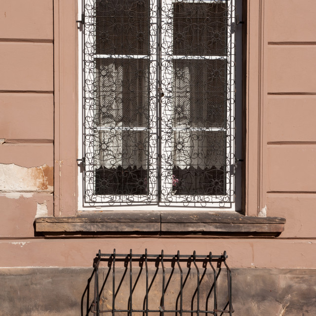 """Window grating at New Town"" stock image"