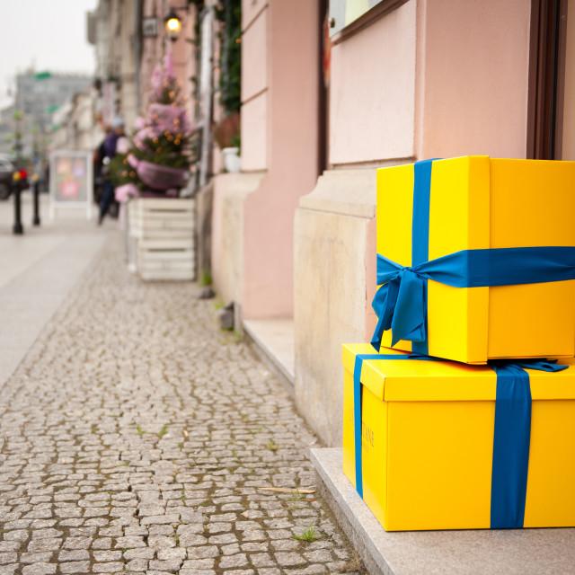 """Two decorative gifts imitation"" stock image"