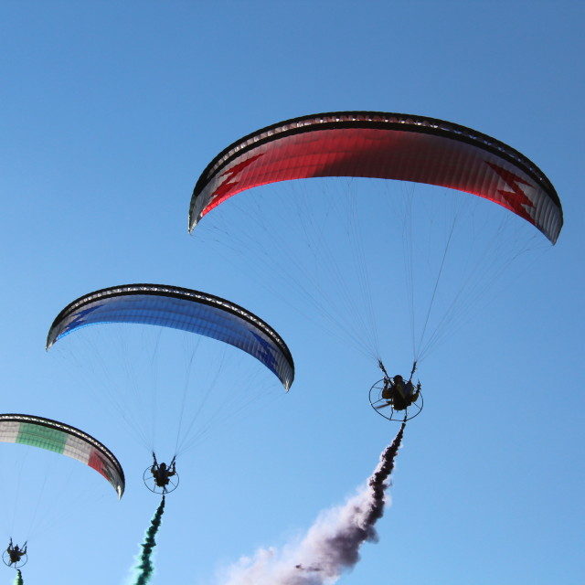 """""""paragliders"""" stock image"""