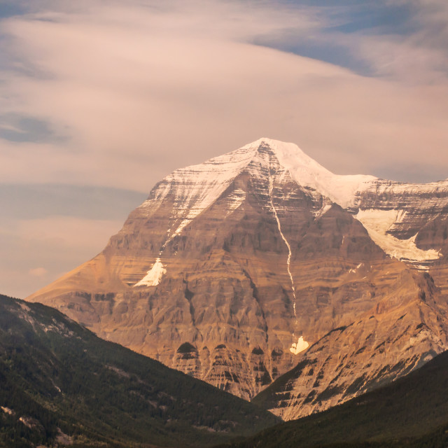 """Canada - The Rockies - Mount Robson"" stock image"