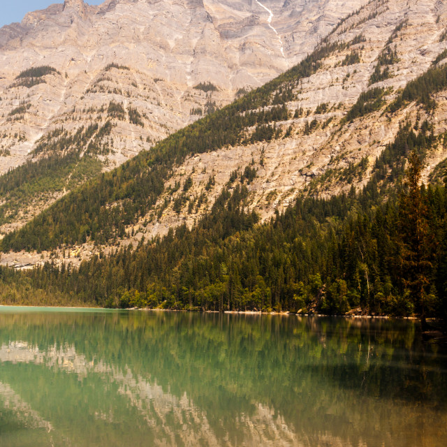 """Reflections of Mount Robson"" stock image"