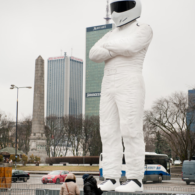 """Warsaw, Poland, Jan. 29.2015, Big Stig Top Gear"" stock image"