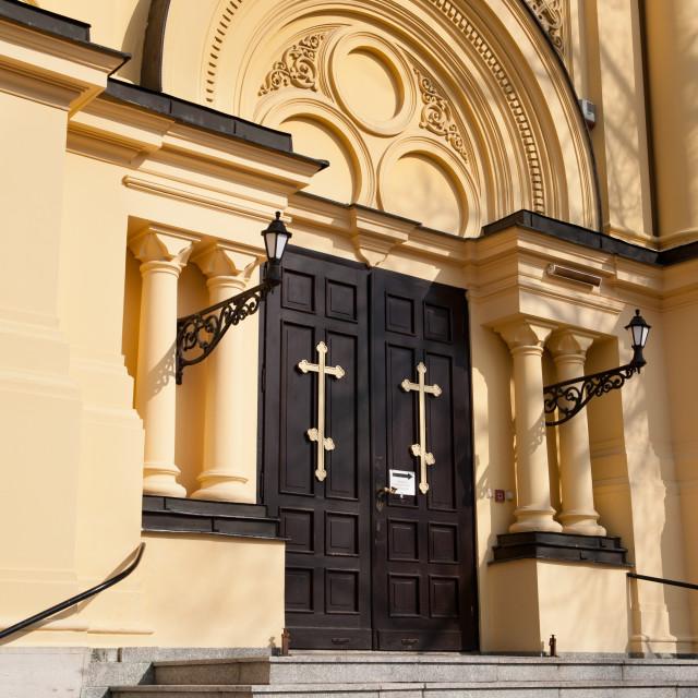 """Doors of Eastern Orthodox Church"" stock image"