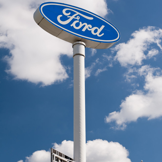 """""""Ford brand sign post"""" stock image"""