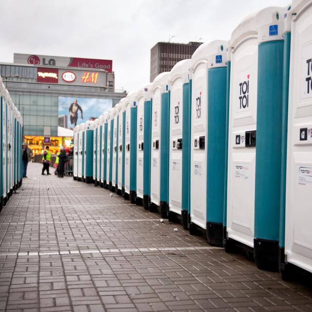 """Toi toi toilet cabs at 22nd GOCC"" stock image"