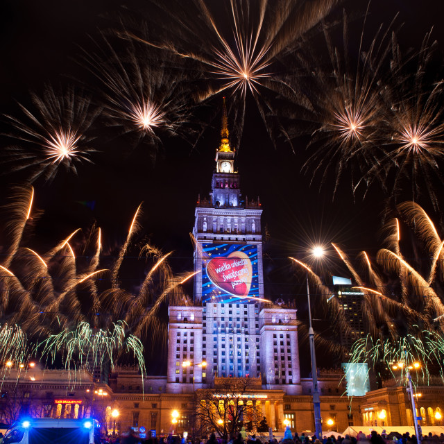 """""""Holiday fireworks at 22nd GOCC"""" stock image"""