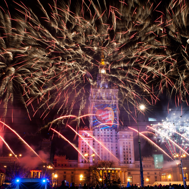 """""""Awesome fireworks at 22nd GOCC"""" stock image"""