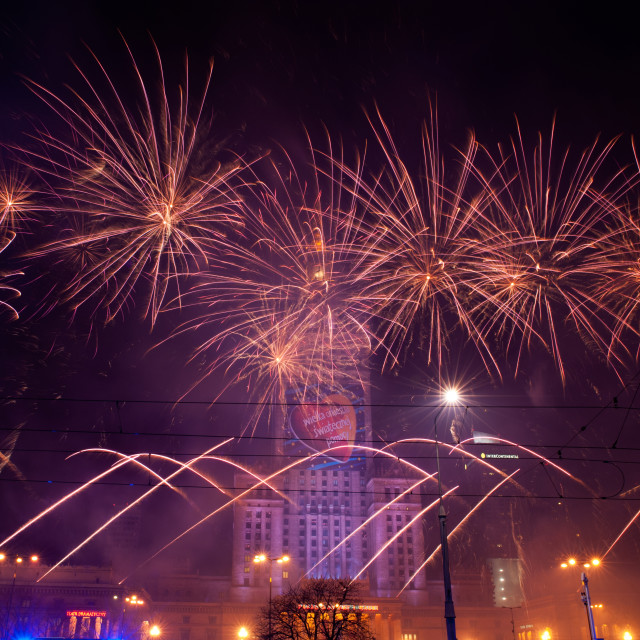 """""""Spectacular fireworks at 22nd GOCC"""" stock image"""