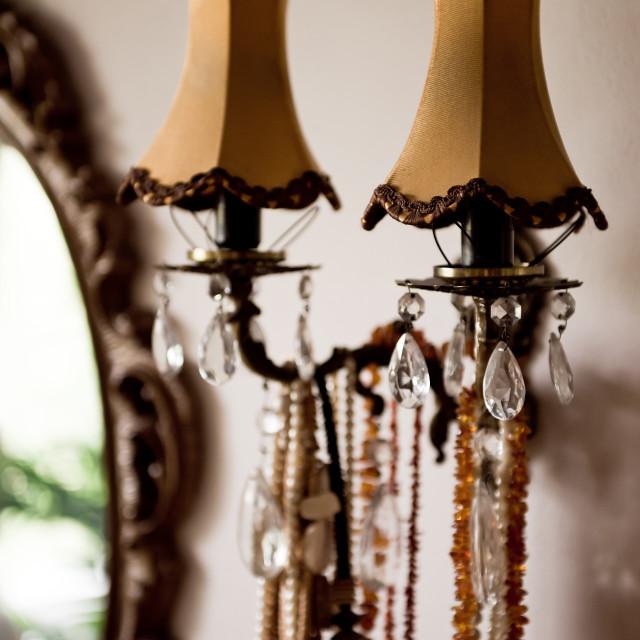 """Decorative retro night lamp"" stock image"