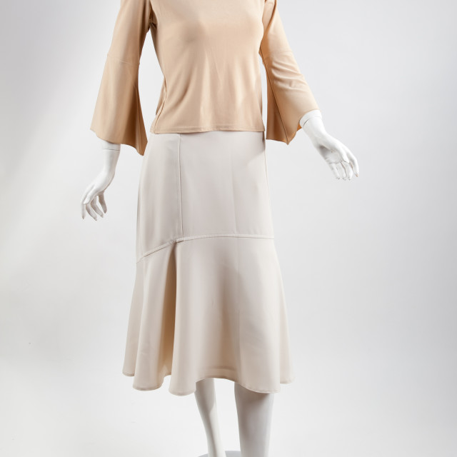 """""""Plaster clothed mannequin of woman"""" stock image"""