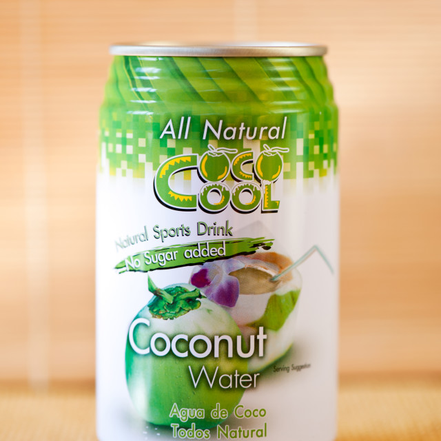 """""""Natural coconut water isotonic drink"""" stock image"""
