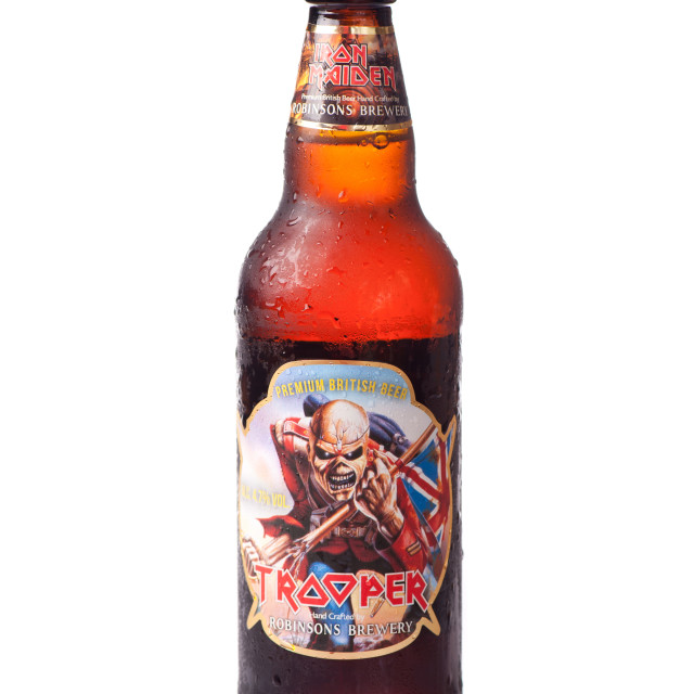 """""""Iron Maiden Trooper beer"""" stock image"""