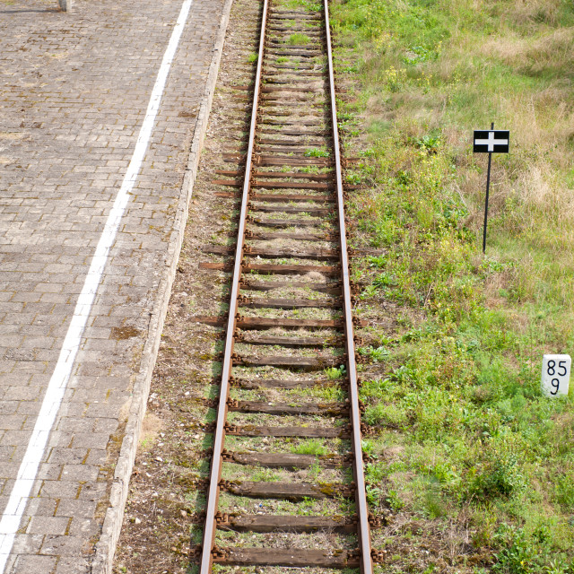 """Old empty railway tracks"" stock image"