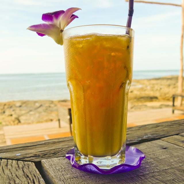 """""""Fresh Mango juice"""" stock image"""