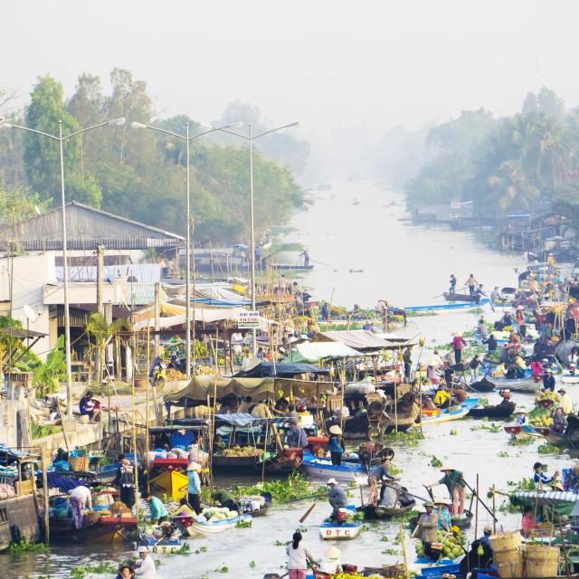 """""""floating market"""" stock image"""