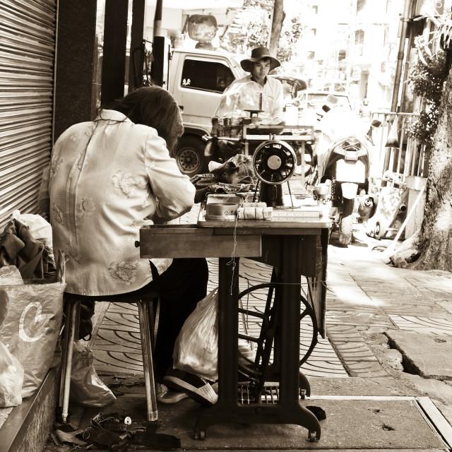 """Street work"" stock image"