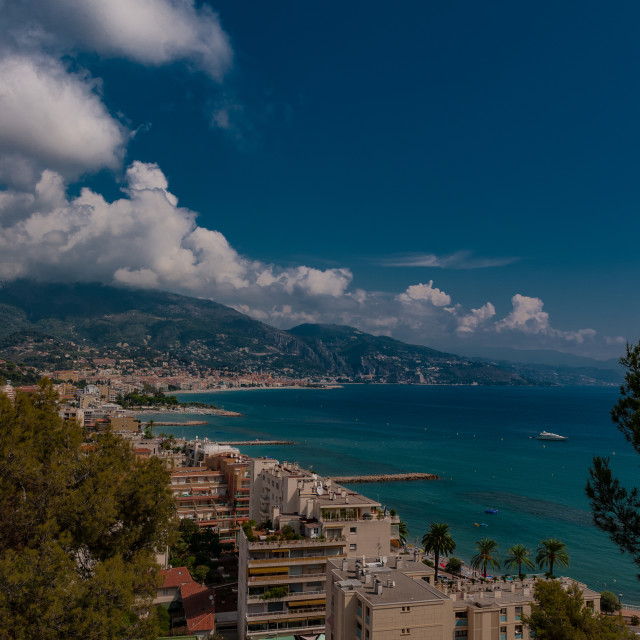 """Menton seafront, France"" stock image"