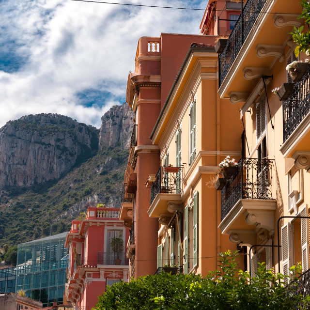 """Rue Seffren Reymond, Monaco"" stock image"