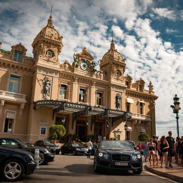 """""""Monte Carlo Casino, Monaco"""" stock image"""