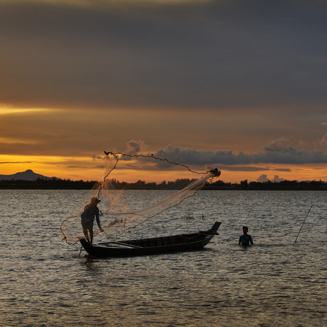 """Fishermen"" stock image"