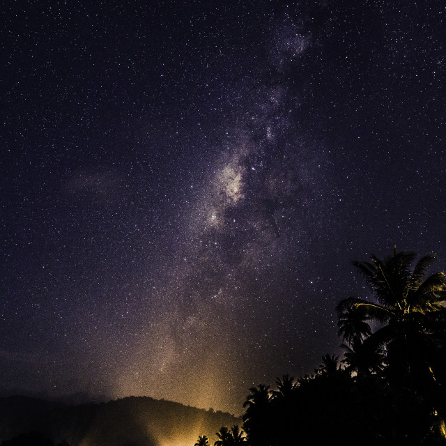 """milky way pulau tioman"" stock image"