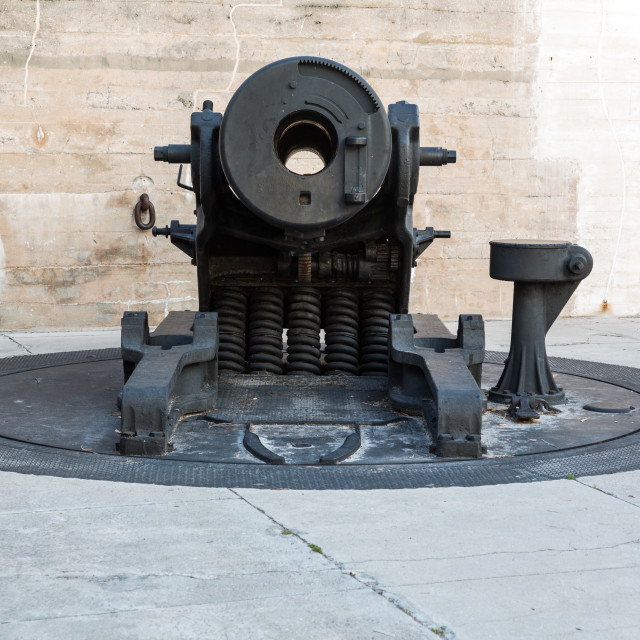 """Old artillery guns at Fort de Soto Florida"" stock image"