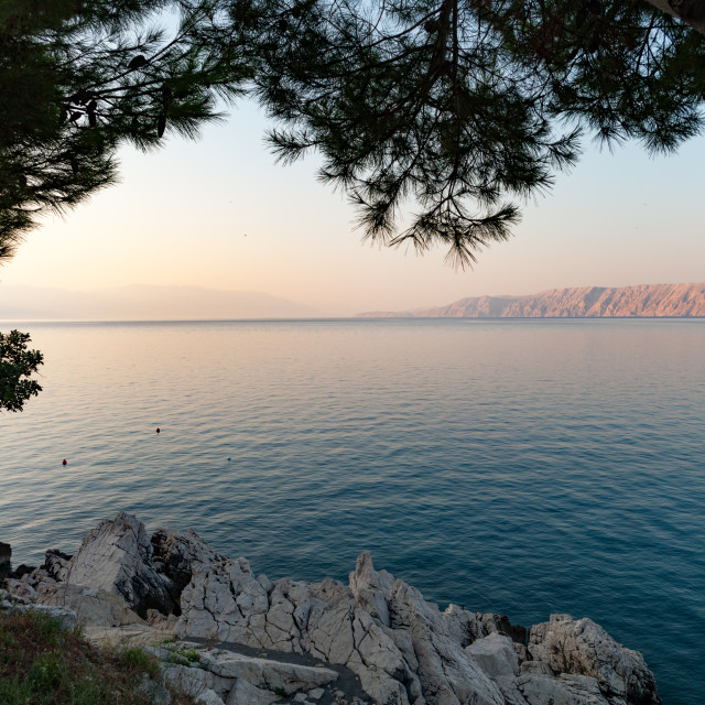 """Early morning Adriatic haze"" stock image"