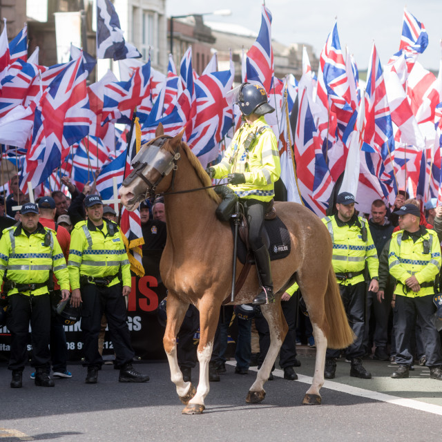 """""""Britain-First March 2015"""" stock image"""