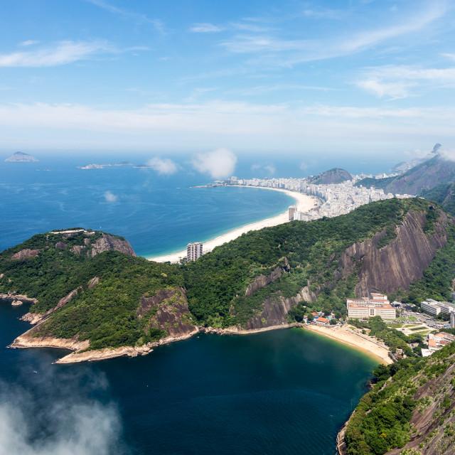 """""""Harbor and skyline of Rio de Janeiro Brazil"""" stock image"""