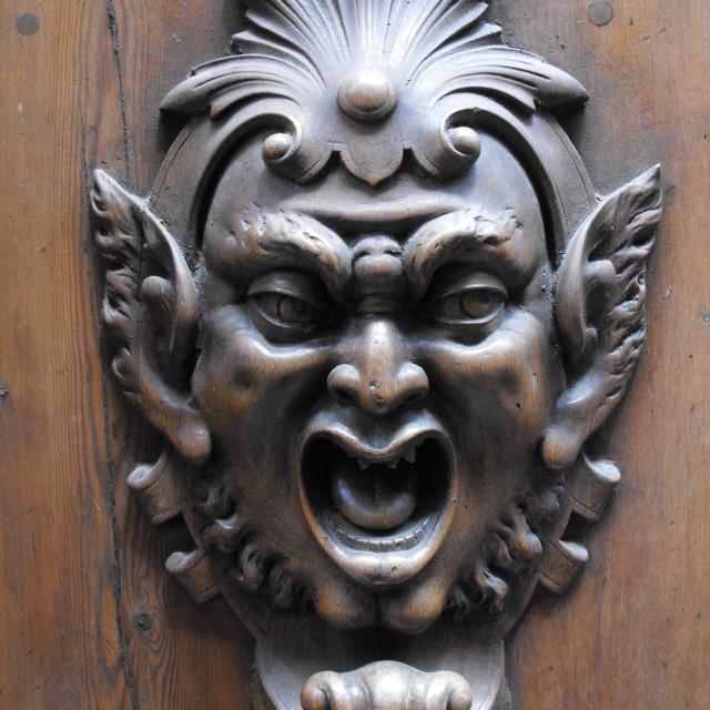 """""""Medieval Door Knocker"""" stock image"""