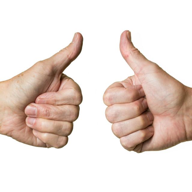 """""""Pair of senior caucasian hands"""" stock image"""