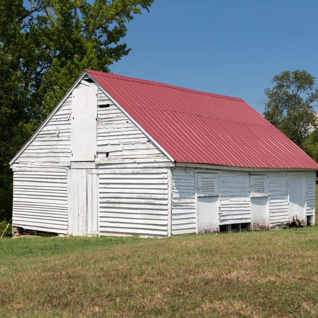 """Barn at Thomas Stone house in Maryland"" stock image"