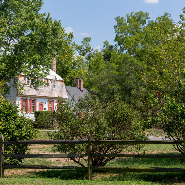 """""""Staggs Hall house Port Tobacco Maryland"""" stock image"""