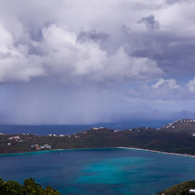 """Storm over Magens Bay on St Thomas USVI"" stock image"