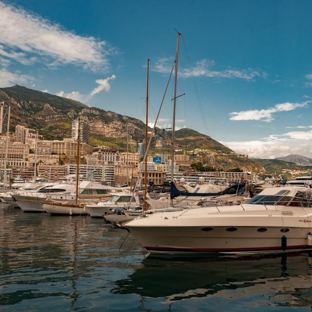 """Hercule Harbour, Monaco"" stock image"