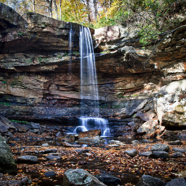 """""""Veil of water over Cucumber Falls"""" stock image"""