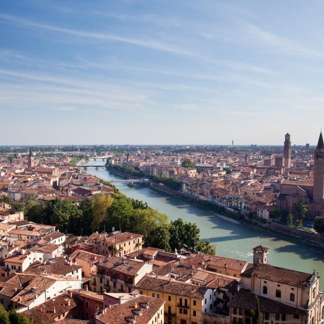 """Aerial view of Verona"" stock image"