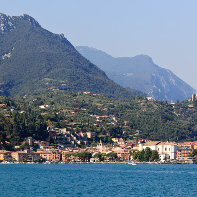 """""""Town of Maderno"""" stock image"""