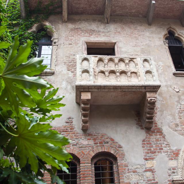 """""""Juliet's balcony in Verona"""" stock image"""