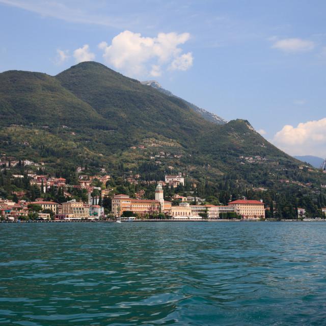 """""""Gardone on Lake Garda"""" stock image"""